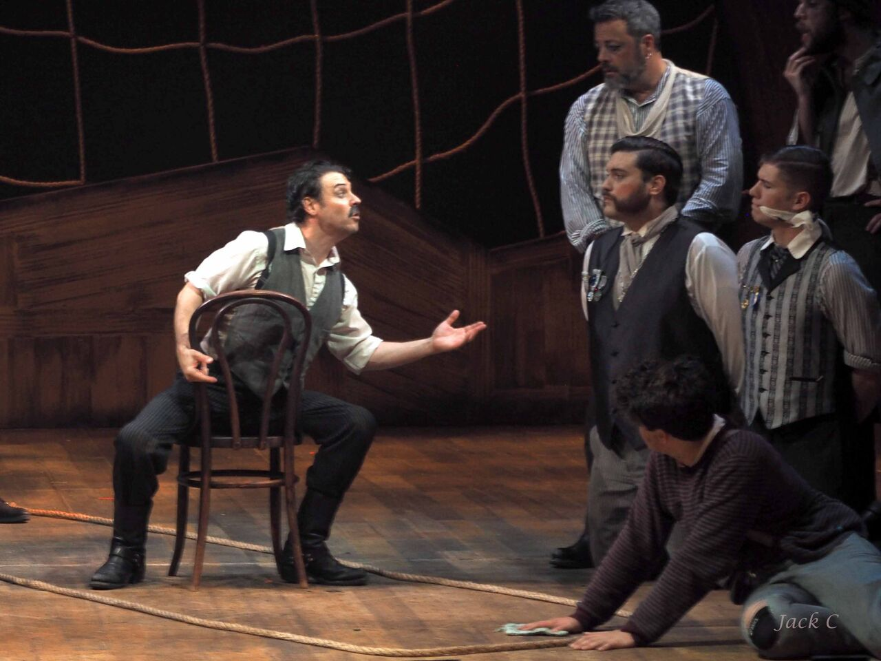 """Captain Black Stache in Stage Center's production of """"Peter and the Star Catcher"""""""