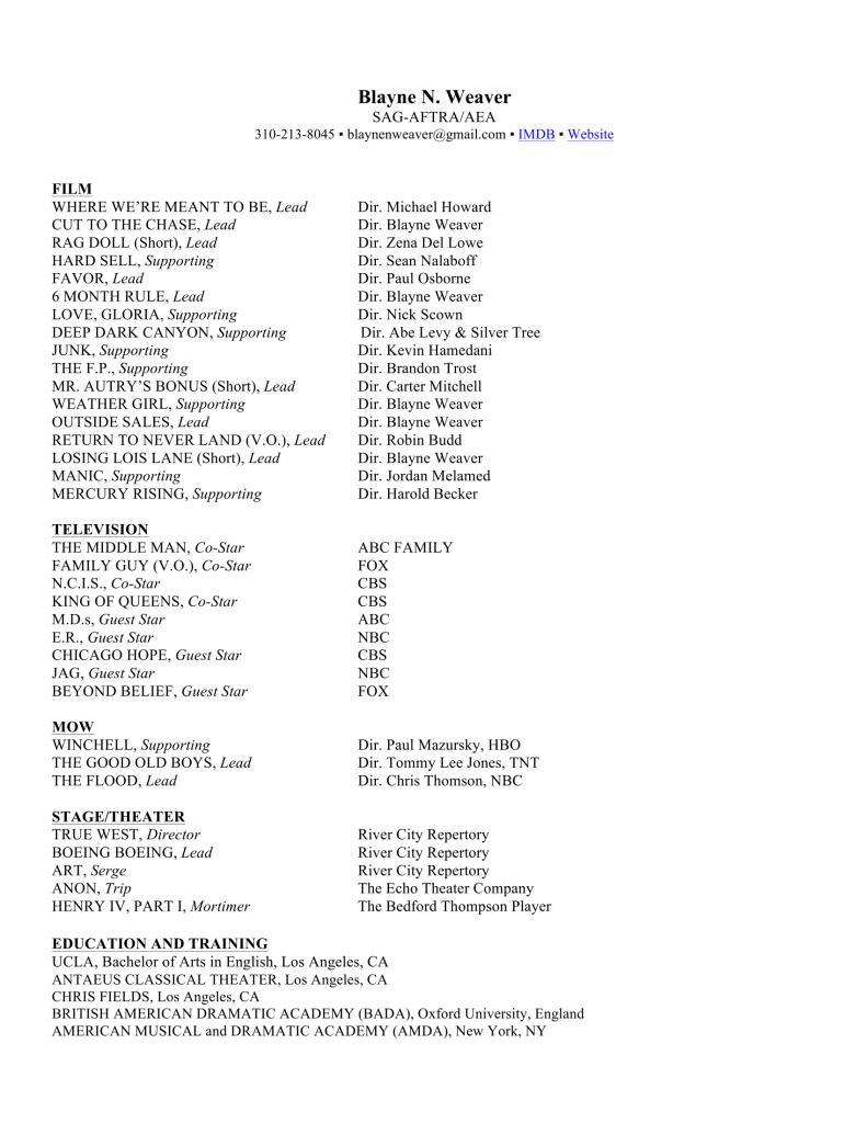 Weaver NY resume-1